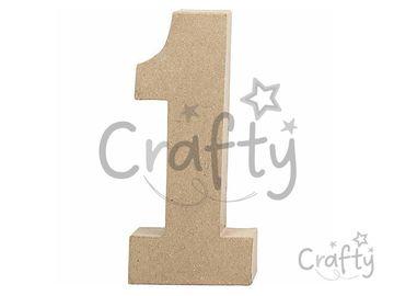 Číslo z papier-mâché 20,5cm - 1