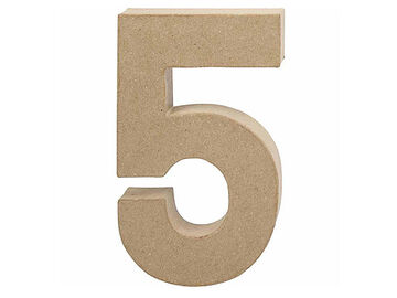 Číslo z papier-mâché 20,5cm - 5