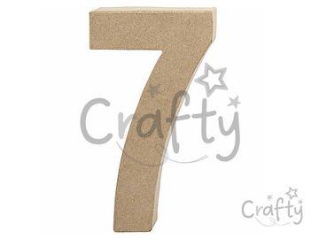 Číslo z papier-mâché 20,5cm - 7