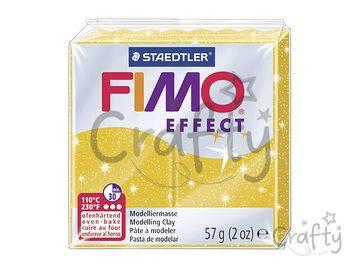 Modelovacia hmota FIMO Effect 56g - zlatá s glitrami