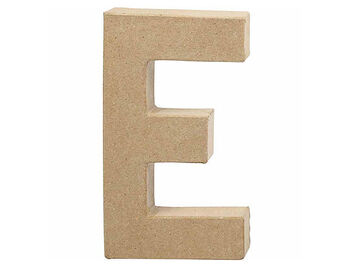 Písmeno z papier-mâché 20,5cm - E