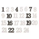 Závesný textilný adventný kalendár 132cm s číslami -sivý