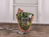 Kovová mini záhradná brána 16cm biela