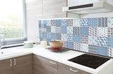Nálepky na obklad mozaikové 4cm - 30ks - modré