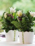 Drevené vedierko - kvetináč