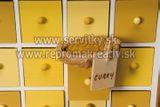Drevená skrinka (adventný kalendár) - 25 zásuviek