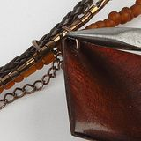 Zapletaná koženková šnúrka - 3mm - hnedá