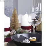 Dekoračné trblietavné vianočné stromčeky 7ks zlaté