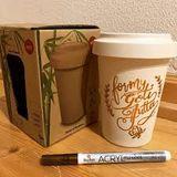 Bambusový eko kávový pohár na dotvorenie 600ml