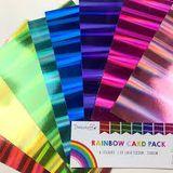 Sada 8 holografických farebných papierov A4 - Rainbow