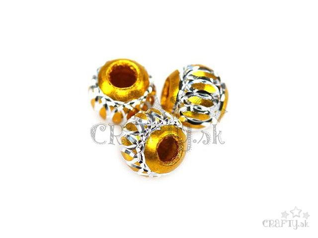crafty.sk - Alumíniové korálky 8mm - zlaté 2feb9078584