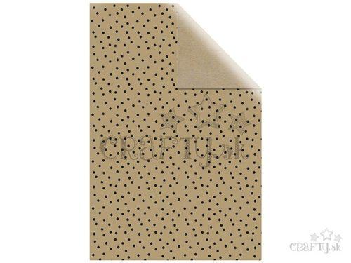 Baliaci papier 70x200cm - čierne bodky