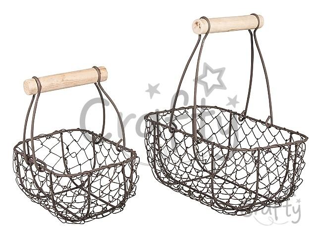 5e98eca0f crafty.sk - Dekoračné drôtené košíky 2v1