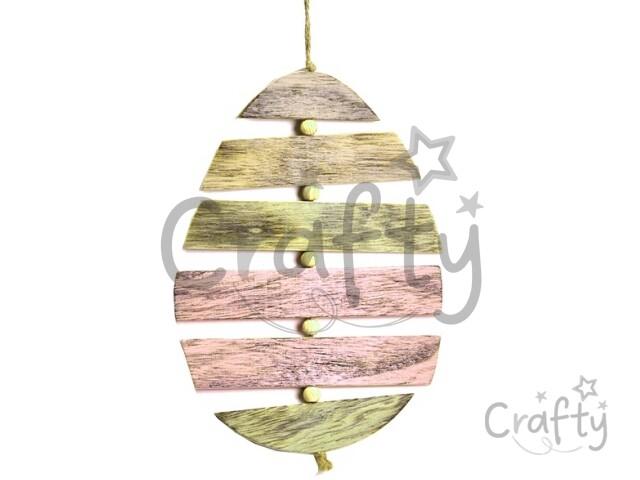 da9065b1cb crafty.sk - Drevená vintage dekorácia - pastelové vajce z dosiek - veľké