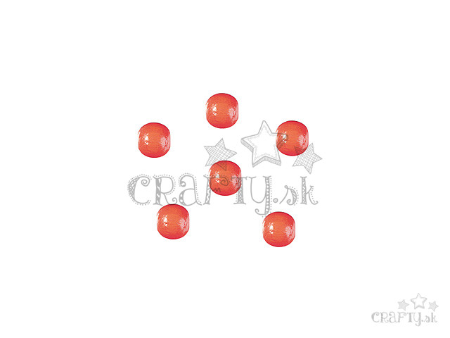 crafty.sk - Drevené korálky 6mm 125ks - oranžové 902288ada96