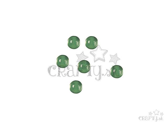 crafty.sk - Drevené korálky 6mm 125ks - zelené 41a4c0abb65