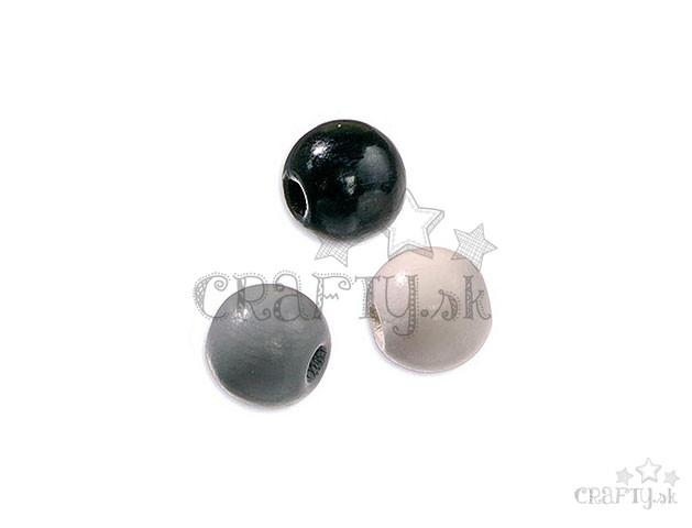 crafty.sk - Drevené korálky 8mm mix - 80ks - čierne c71131ea959