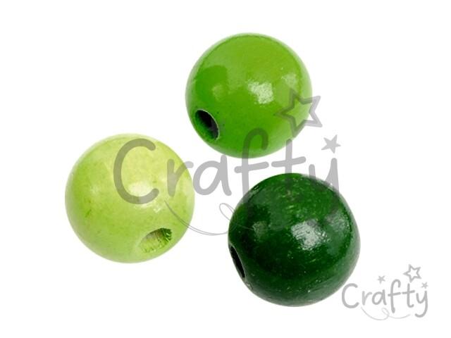 crafty.sk - Drevené korálky 8mm mix - 85ks - zelené 29471d970f7