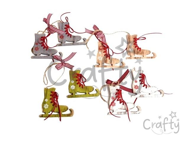a5120c415 crafty.sk - Drevené ozdobné korčule so šnurovaním 8,5cm - biele