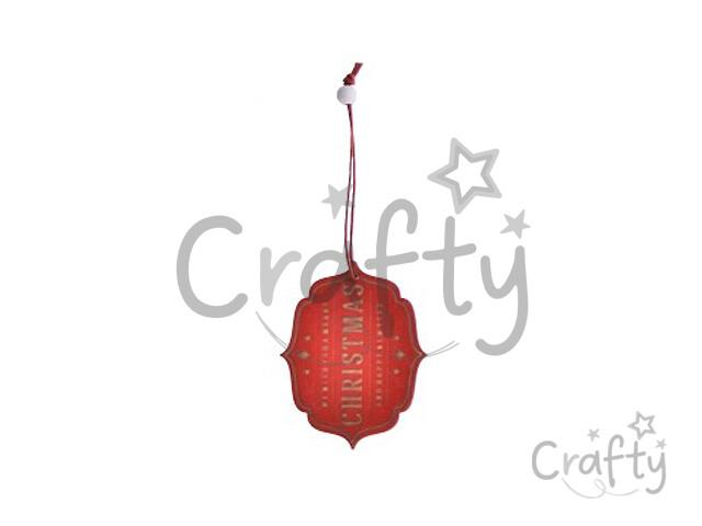 91233ed43 crafty.sk - Dýhová závesná ozdoba - štítok Christmas