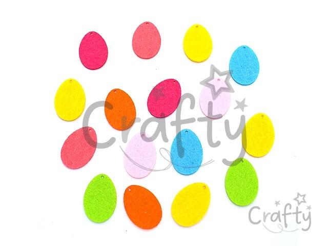 d0063c0092 crafty.sk - Filcové výrezy 3cm - mini vajíčka