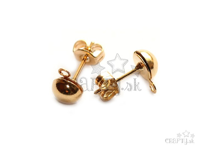 10ae80470 crafty.sk - Napichovacie náušnice s očkom - zlaté