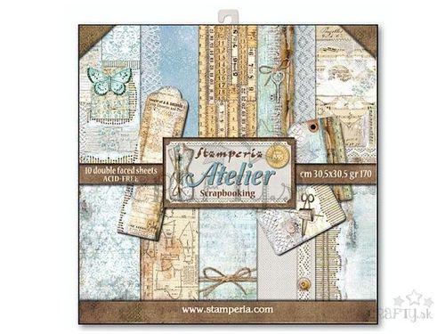 Obojstranné papiere na scrapbook 10ks - Atelier