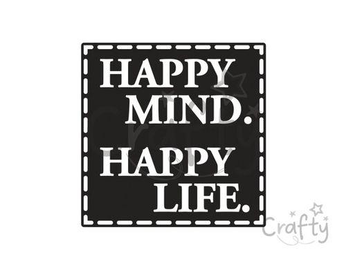 Odlievacia pečiatka do mydla - Happy Mind. Happy Life.