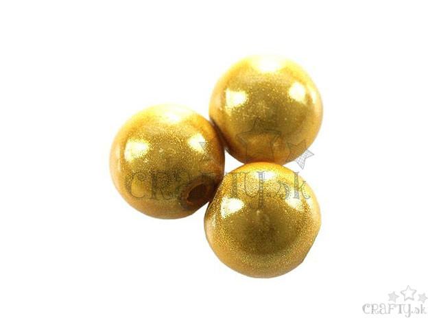 crafty.sk - Plastové korálky miracle 10ks - 10mm - zlaté bb4b28879a9