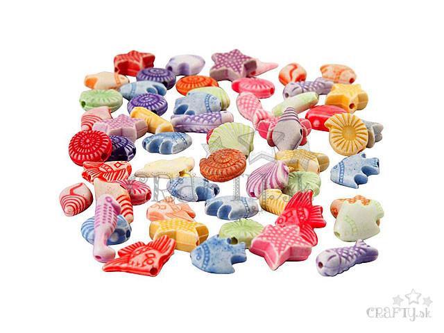 crafty.sk - Plastové korálky morské tvary - 10g 38d4c6950e8