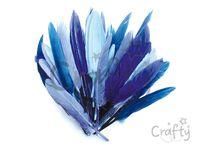 Aranžérske pierka 10g - modré odtiene