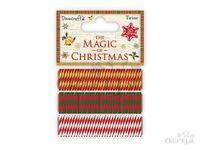 Bavlnené Vianočné šnúrky - 3x10m