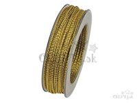 Dekoračná šnúrka 3mm - zlatá