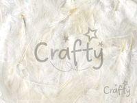 Dekoračné aranžérske pierka biele - 10g
