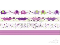 Dekoračné Washi lepiace pásky 4x5m - baby girl