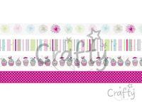 Dekoračné Washi lepiace pásky 4x5m - cupcakes