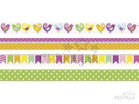Dekoračné Washi lepiace pásky 4x5m - jarné