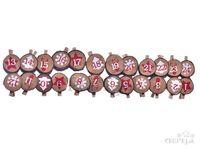 Drevené adventné štipce - drevené krúžky