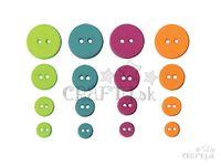Farebné gombíky - 36ks - kruhy - farebný mix
