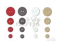 Farebné gombíky - 36ks - kruhy - LOVE - vintage