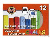 Farebné školské kriedy - 12ks