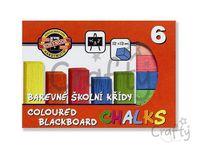 Farebné školské kriedy - 6ks