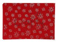 Filc 1mm A4 - červený s glitrovanými hviezdami