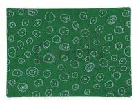 Filc 1mm A4 - zelený s glitrovanými kruhmi