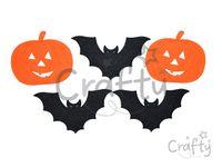 Filcové výrezy 4cm - Halloween