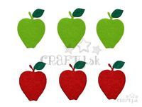 Filcové výrezy 6cm - jablká
