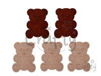 Filcové výrezy 7cm - medvede