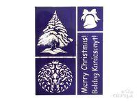 Flexibilná nalepovacia šablóna A5 - Merry Christmas