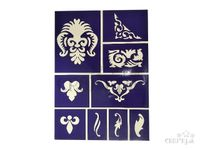 Flexibilná nalepovacia šablóna A5 - ornamenty