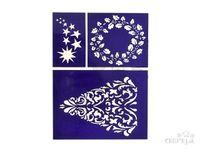 Flexibilná nalepovacia šablóna A5 - strom, veniec, hviezdy